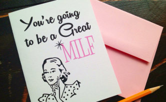 Milf Greeting Card- Allaboutthedetails.com
