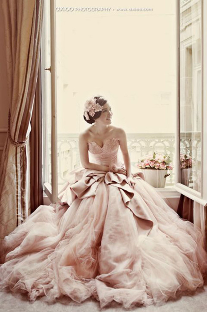 Pink Wedding Gown-allabouthedetails.com