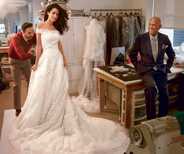 Amal Wedding Dress- Oscar De La Renta-Vogue-allaboutthedetails.com