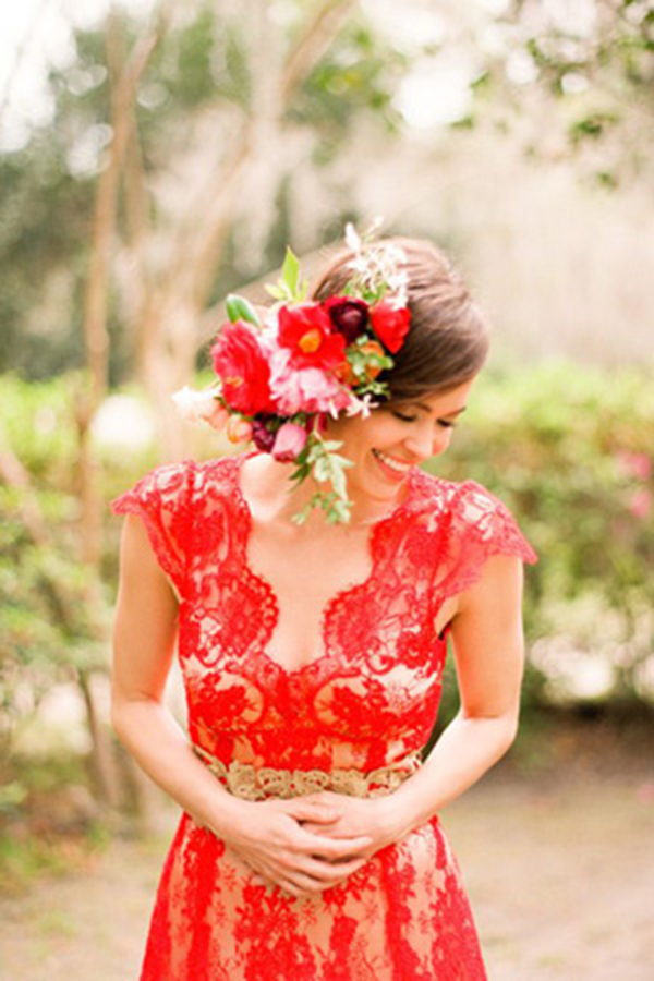 Mexico Wedding -Red Dress 1-allaboutthedetails.com