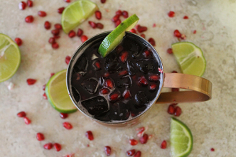 {Thirsty Thursday } Pomegranate Moscow Mule-2-