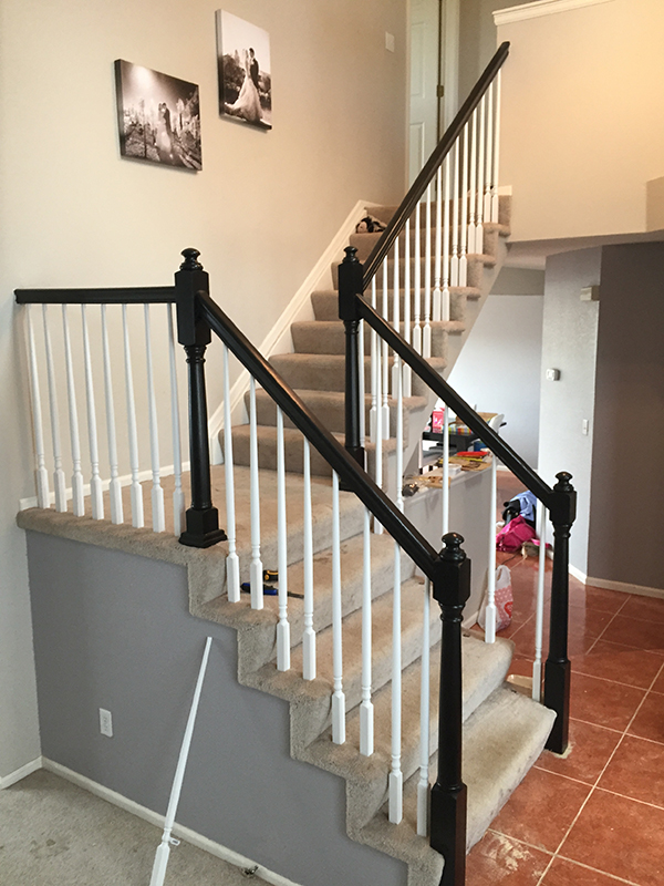 DYI Stair Case Remodel- Allaboutthedetails.com