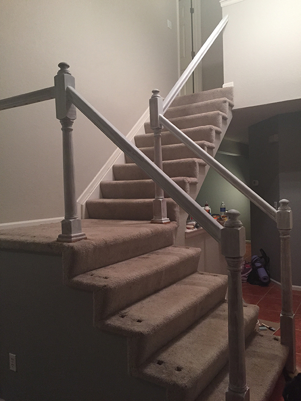 DYI Stair Case - primer- allaboutthedetails.com