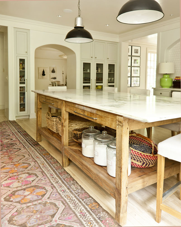 Persian Rugs in the Kitchen allaboutthedetails.com -2