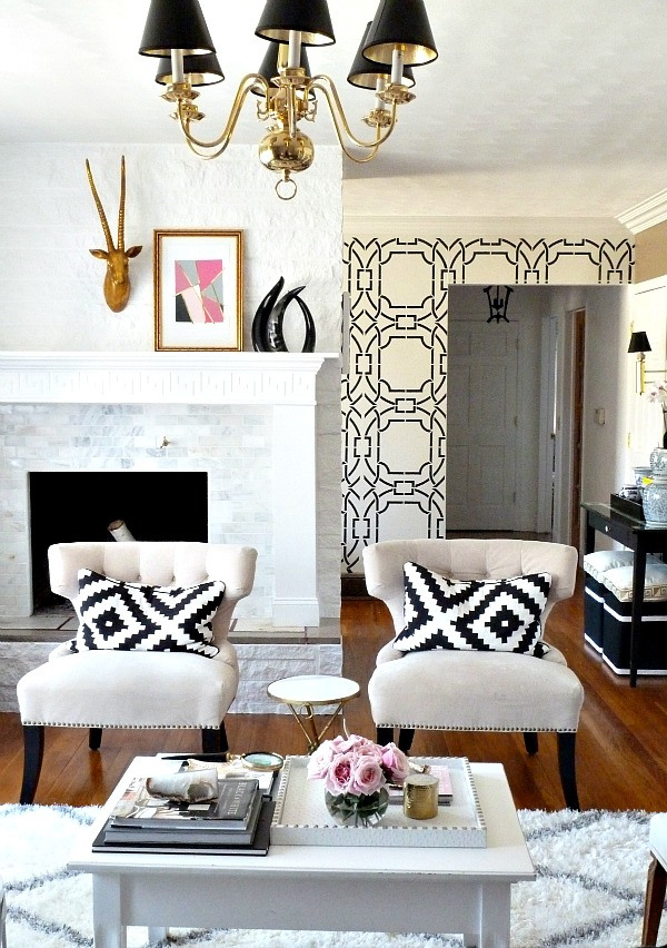 { Home Decor } WallPaper Accent Walls- allaboutthedetails.com-1